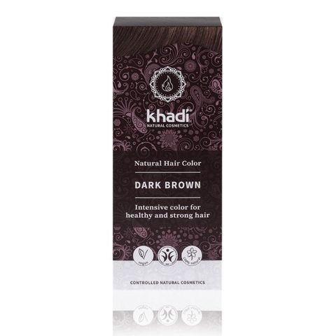 Натуральная краска для волос темно-коричневая Khadi Naturprodukte, 100 гр