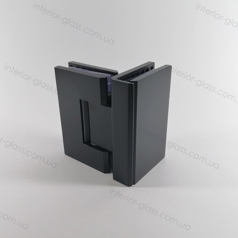 Петля душевая стекло-стекло 90 град. HDL-304 BLK чёрная матовая