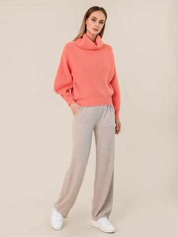 Женские брюки бежевого цвета из шерсти и кашемира - фото 2
