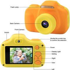 Детский фотоаппарат для девочек и мальчиков Жираф со вспышкой