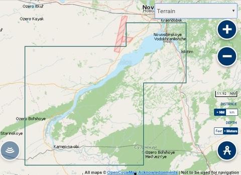 Карта: Новосибирское водохранилище. Navionics+ Small 5G763S