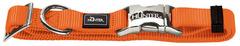 Ошейник для собак, Hunter ALU-Strong S (30-45 см). нейлон с металлической застежкой, оранжевый