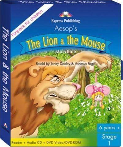 The Lion & the Mouse. Fun pack (В комплект входит книга для чтения + СD c аудиосопровождением + DVD  c мультфильмом)