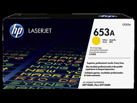 Оригинальный картридж HP CF322A (№653A), жёлтый