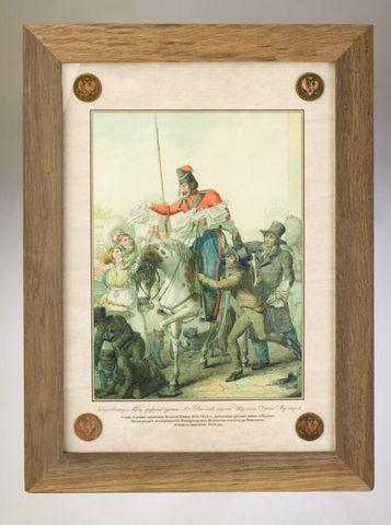 Литография, первая четверть XIX века «Казаки в Париже»