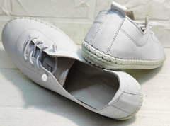 Смарт кэжуал женские кеды кроссовки без шнурков Rozen 115 All White.