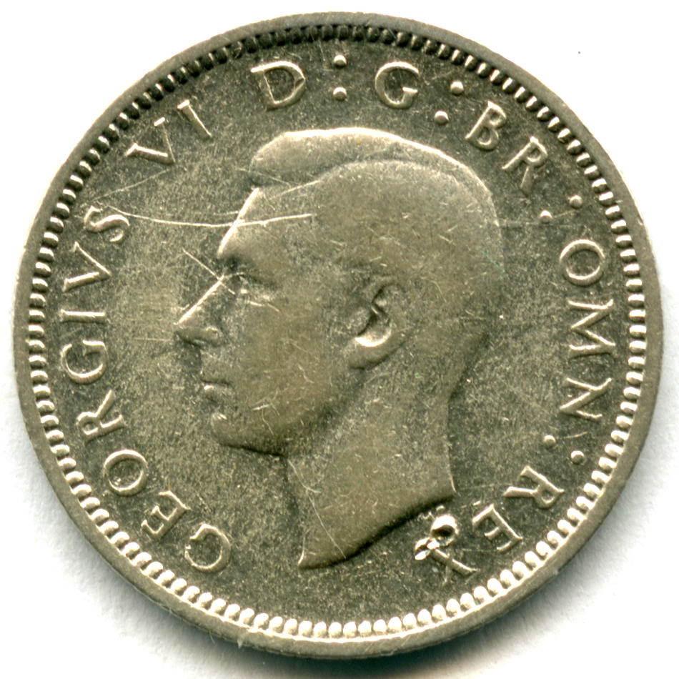 6 пенсов 1940. Англия VF-