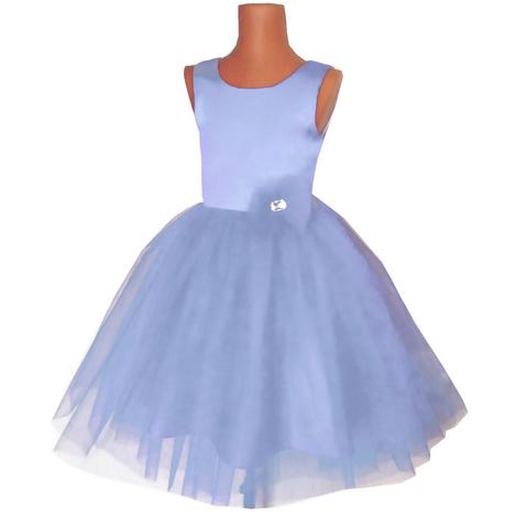 Платье пышное голубое для малышек