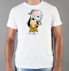 Футболка с принтом мультфильма Tom and Jerry (Том и Джерри), белая 008