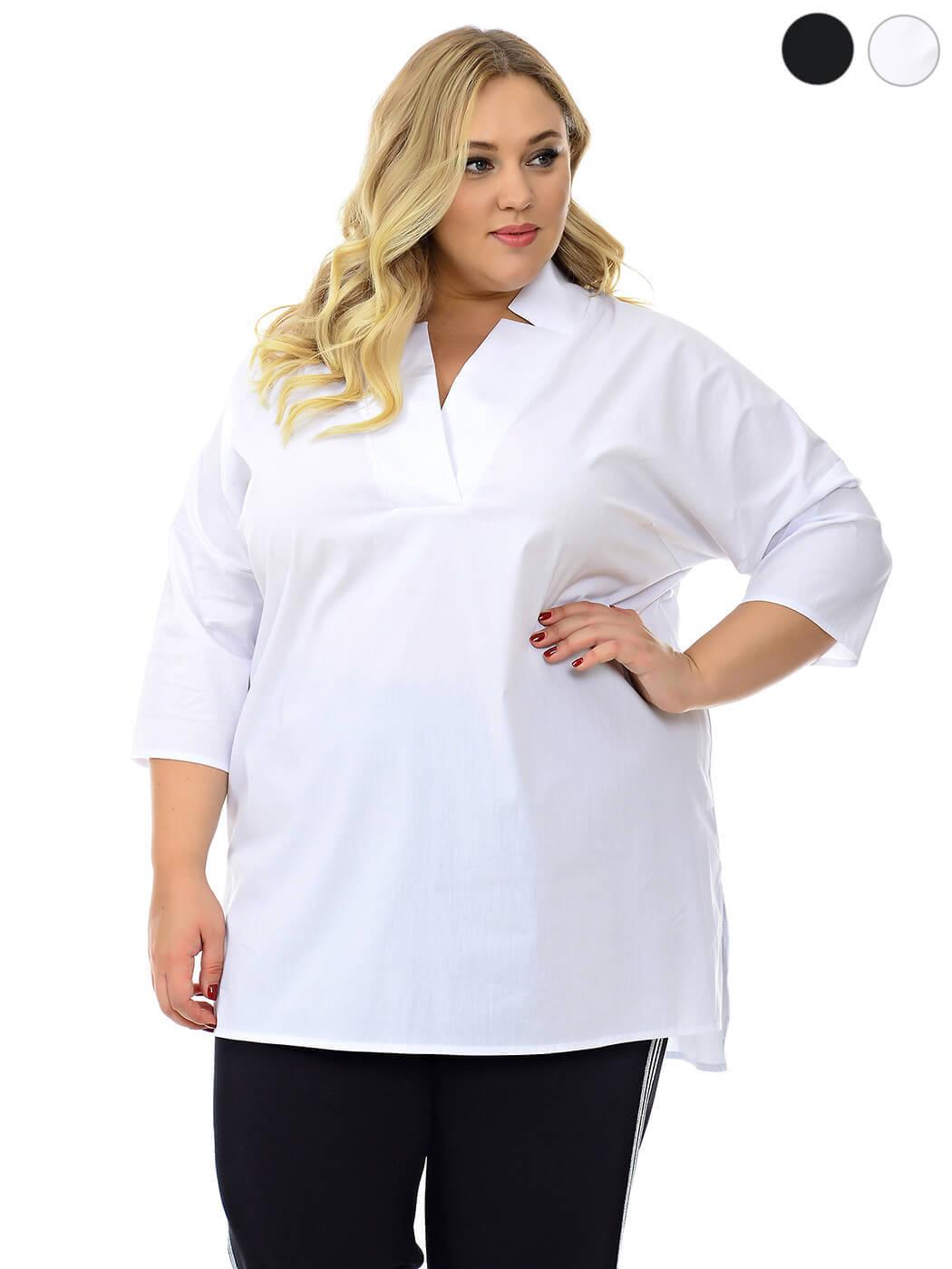 Белая туника рубашка женская 74 размера