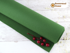 Фетр ЖЕСТКИЙ корейский темно-зеленый 1,2 мм (лист 22*30 см)