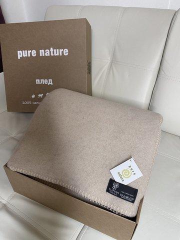 Одеяло двухстороннее цвет Бежево-коричневый из новозеландской шерсти KLIPPAN SAULE Латвия