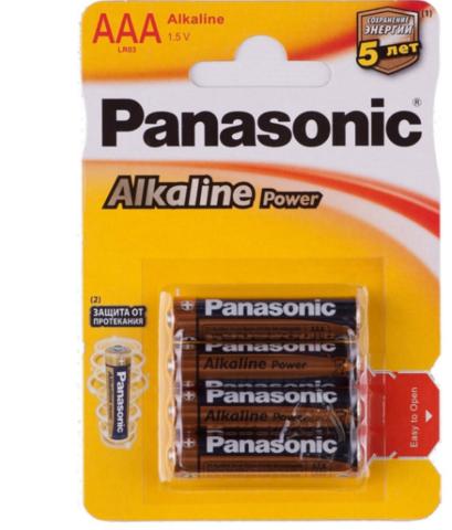 Батарейки Panasonic Alkaline Power LR03, AAA (4/48) BL