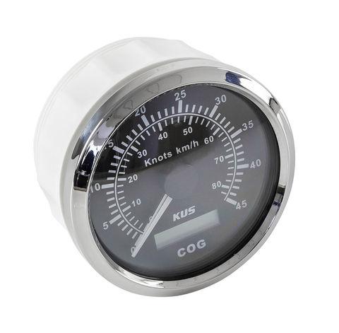 GPS-спидометр 0-45 узлов, аналоговый, черный