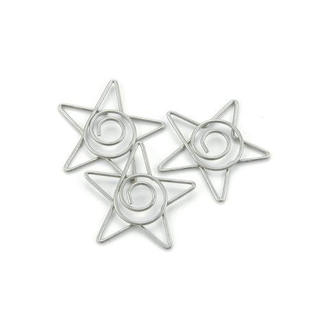 Скрепки Metal Spiral Star Paper Clips, металл, 1 шт