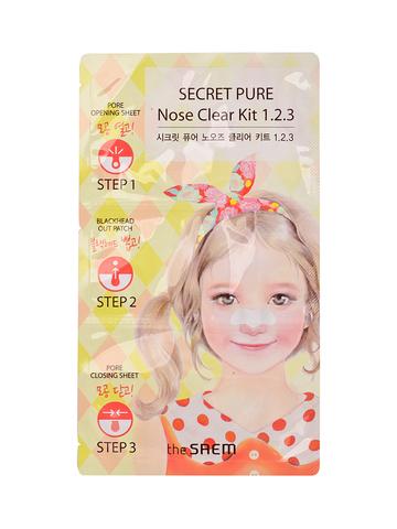 СМ Secret Pure Пластырь для удаления черных точек Secret Pure Nose Clear Kit  1•2•3 6гр