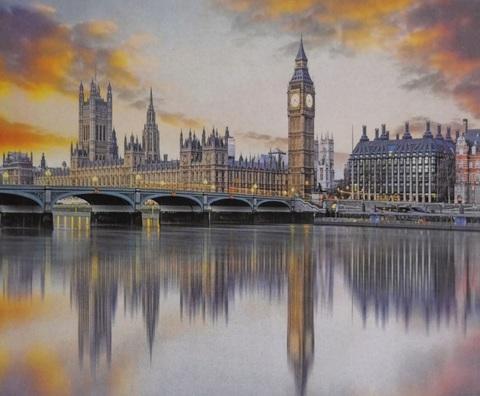 Алмазная Мозаика 30x40 Арочный мост через Темзу в Лондоне (Арт. SEG74621 )