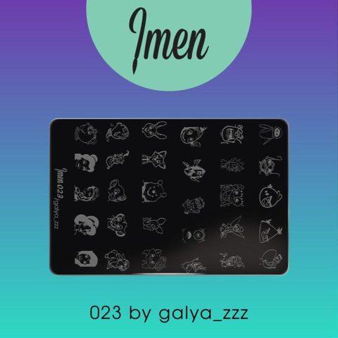 Пластина Imen для стемпинга #023