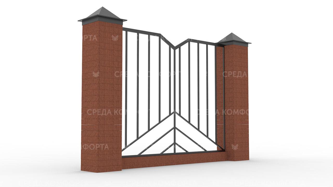 Забор из профильной трубы ZBR0164