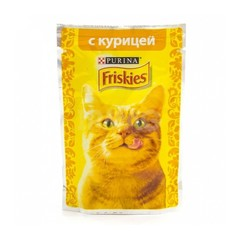 Корм для взрослых  кошек FRISKIES Курица 50г