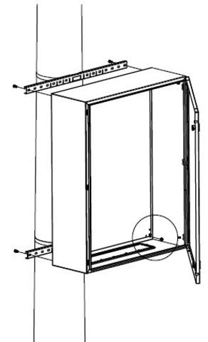 Комплект крепления шкафов CE/RAM box к столбу (ширина шкафа- 600 мм)