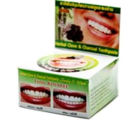 Травяная тайская зубная паста с бамбуковым углем Thai Kinaree Herbal Clove & Charcoal Toothpaste