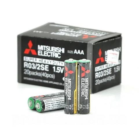 Батарейки Mitsubishi R03, AAA (2/40)