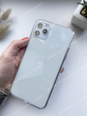 Чехол iPhone 11 Pro Max Simple silicone /transparent/ 444