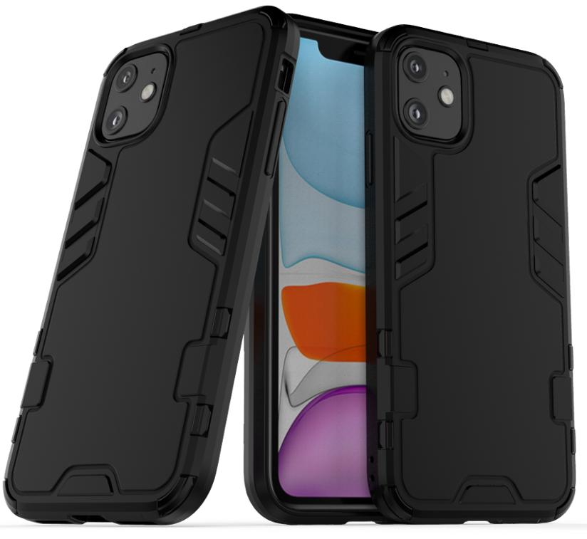 Защитный чехол для iPhone 11 черного цвета, ударопрочный, Caseport