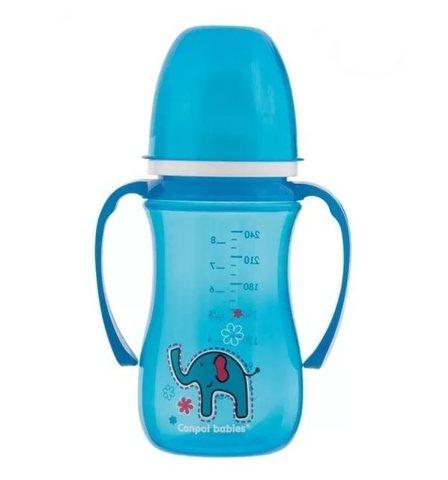 Поильник-непроливайка с мягким носиком (35/208) 240 мл, 6+ Sweet fun, цвет: (голубой)