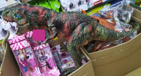 Зелёный тираннозавр 50 СМ