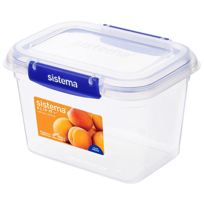 """Герметичный контейнер Sistema """"KLIP IT+"""" 1,49 л"""