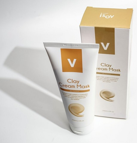 Кремовая маска Clay cream Mask , iSOV, 250 мл.