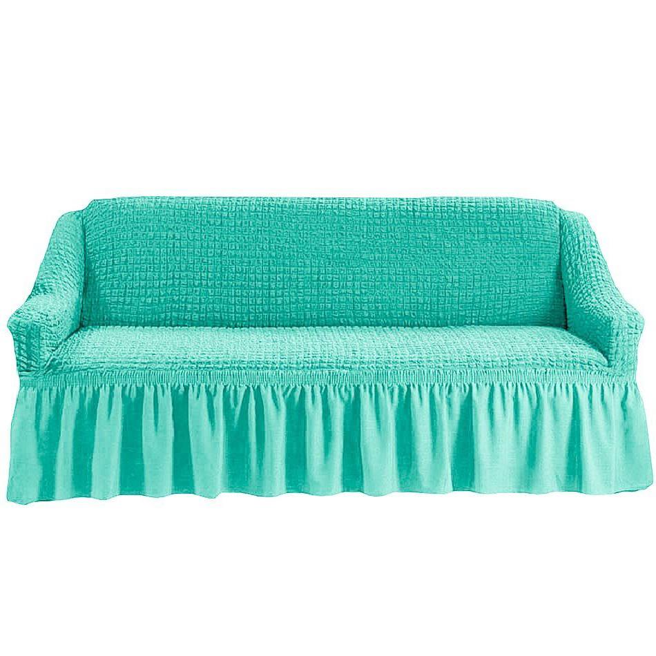 Чехол на четырехместный диван, бирюзовый