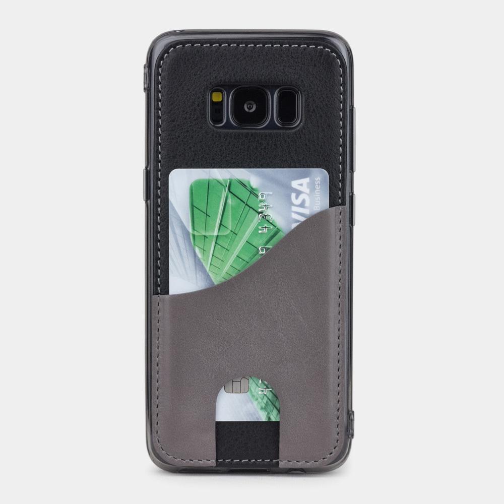 Чехол-накладка Andre для Samsung S8 Plus из натуральной кожи теленка, черного цвета