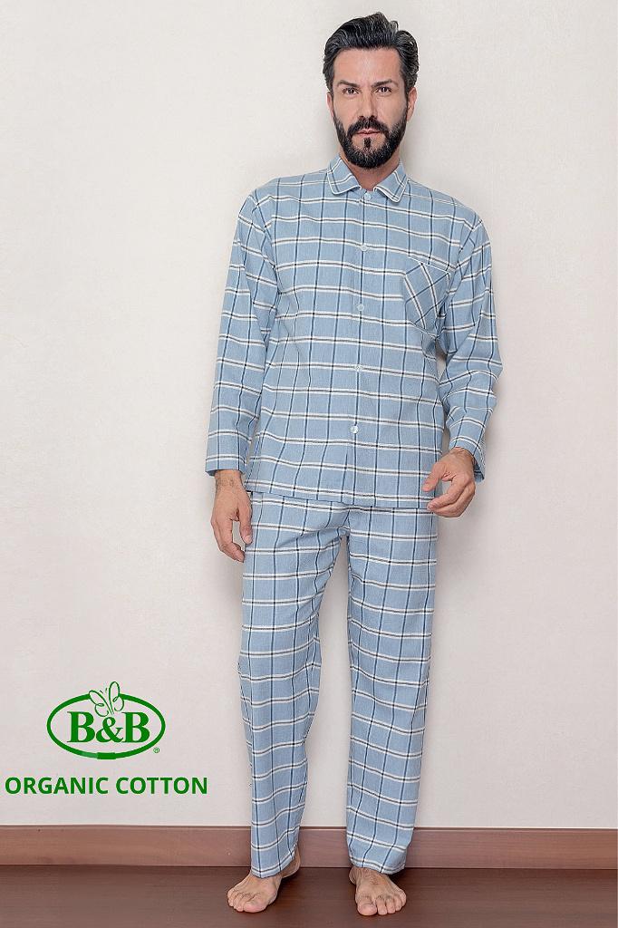 Мужская фланелевая пижама в клетку B&B