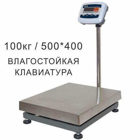 Купить Весы товарные напольные MAS ProMAS PM1B-100 4050, LED, АКБ, RS232, 100кг, 10/20гр, 500*400, с поверкой, съемная стойка. Быстрая доставка. ☎️ +7(961)845-04-45