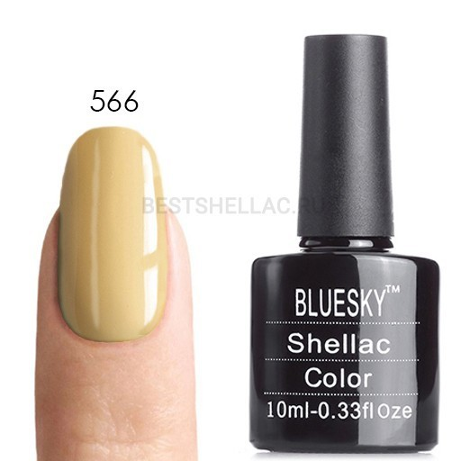 Bluesky Shellac 40501/80501 Гель-лак Bluesky № 40566/80566 Sun Blenched, 10 мл 566.jpg