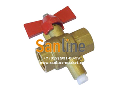 Кран шаровый Sanline ДУ20 с гнездом для термодатчика