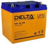 Аккумулятор DELTA HR 12-26 ( 12V 26Ah / 12В 26Ач ) - фотография