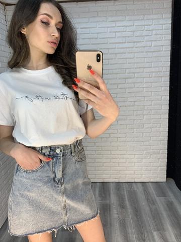 белая футболка оверсайз женская недорого