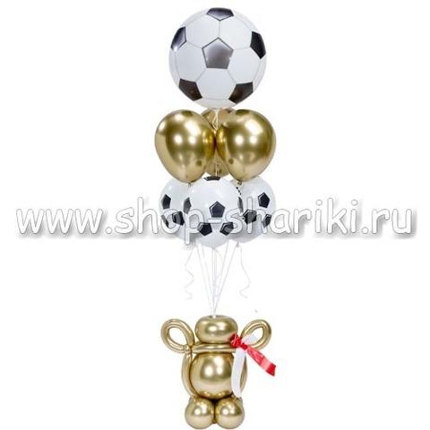 Фонтан из шаров футбольный