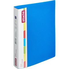 Папка на 2-х кольцах Attache 42 мм синяя до 250 листов (пластик 0.7 мм)