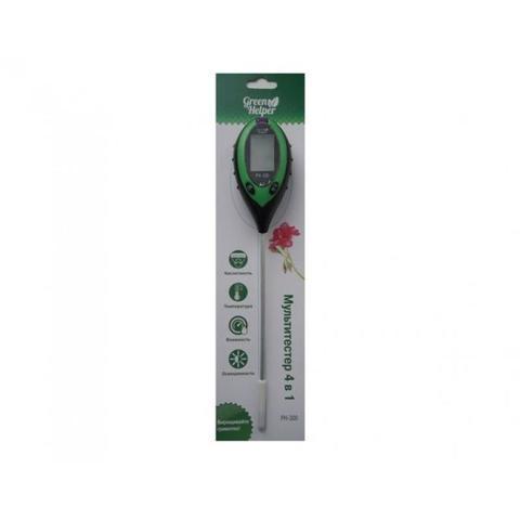 Измеритель 4 в 1 влажности, кислотности, освещенности, температуры почвы Green Helper PH-300