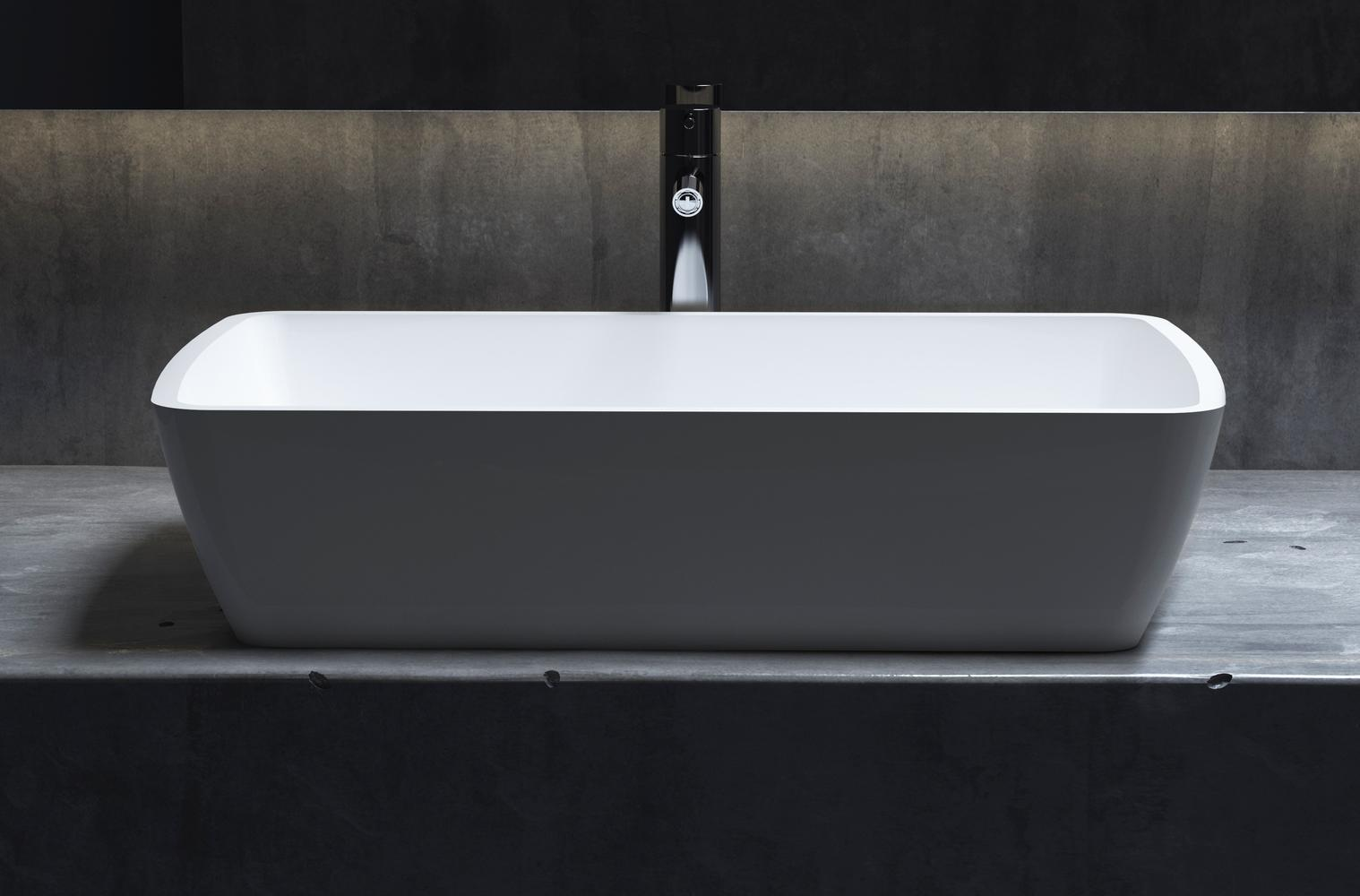 Накладная раковина GLORIA 312 Матовая 650х400х145 мм