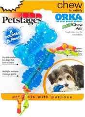 """Набор из двух игрушек для собак мелких пород Petstages """"ОРКА косточка+гантеля"""" 7 см ультра-мини"""