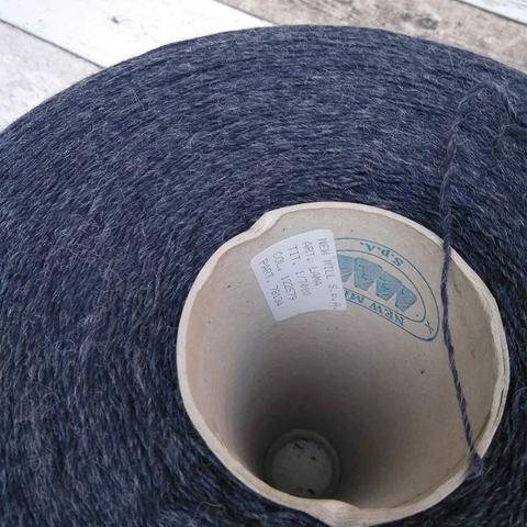 Овечка с альпакой New Mill LAMA  700  темно-синий меланж