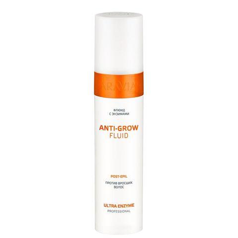 Флюид с энзимами против вросших волос Anti-Grow Fluid, 250 мл, ARAVIA Professional