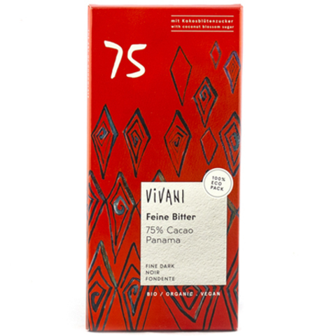 Vivani, Шоколад Темный 75% какао, Vivani 80 г