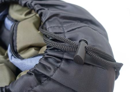 Спальный мешок INDIANA Traveller Plus, компрессионный зажим.